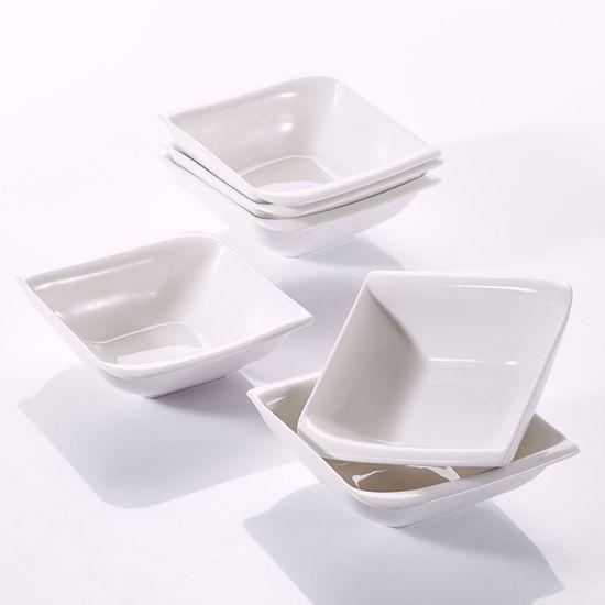 """Picture of V VANCASSO Cereal Porcelain Dessert Milk Snack Soup Bowl Set 5.5"""" Ivory White,6-Piece"""