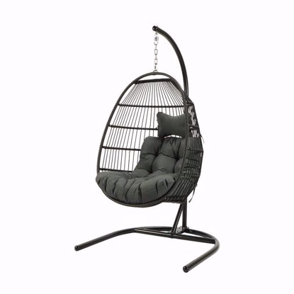 Picture of Kammir Rattan Egg Porch Swing